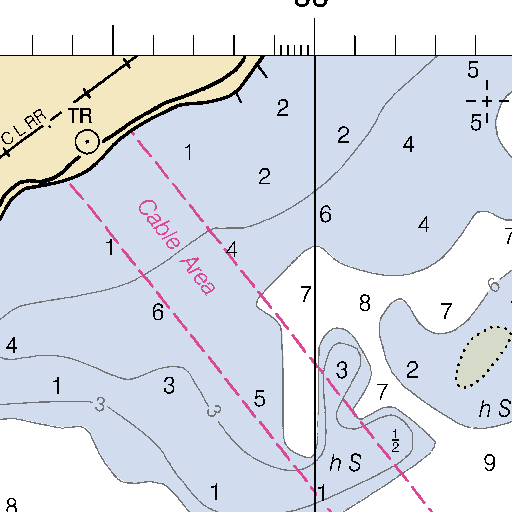 Dog Island Florida Map.Dog Island Chart 11404 Carrabelle To Apalachicola Bay